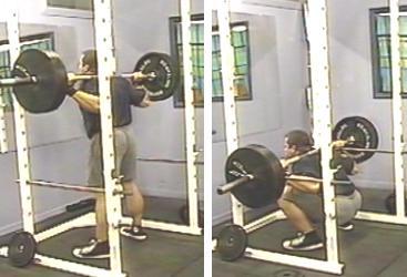 Deep squats in a squat cage