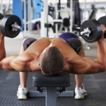 How to do the dumbell chest press?